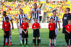 West Bromwich Albion pre-game introductions. West Bromwich during pre=game introductions in Charleston, SC, for their July 17, 2015 game against the Charleston Stock Images
