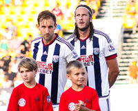West Bromwich Albion pre-game introductions Royalty Free Stock Images
