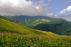 West Caucasus. View of the Western Caucasus Royalty Free Stock Image