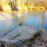 West-Chickamauga-Nebenfluss Stockbilder