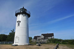 West Chop Lighthouse. West Chop Light is a lighthouse station located at the entrance of Vineyard Haven Harbor in Tisbury, Massachusetts on the northern tip of royalty free stock image
