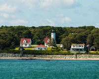 West Chop Lighthouse, Martha's Vineyard, MA. Ocean view of the historic West Chop Lighthouse in Martha's Vineyard, MA Stock Photos