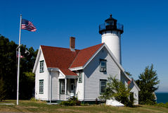 West Chop Lighthouse in Marthas Vineyard, Massachusetts Royalty Free Stock Images