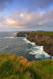 West Clare Coastline. On Loop Head Peninsula,showing rocks and cliffs sculptured by the Atlantic Ocean royalty free stock photo