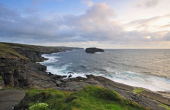 West Clare Coastline. On Loop Head Peninsula,showing rocks and cliffs sculptured by the Atlantic Ocean stock image