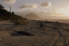 West Coast beach-Haast. Royalty Free Stock Photo
