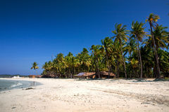 West coast beach of Ngwe Saung village, Myanmar. Stock Photo