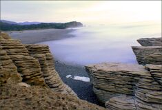 West Coast beaches of New Zealand (12) royalty free stock image