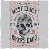 West Coast Bikers Gang Poster Stock Photos