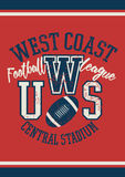 West Coast football league jersey poster.  Stock Photos