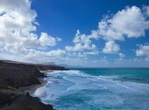 West coast of Fuerteventura at La Pared Stock Image