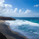 West coast of Fuerteventura at La Pared Stock Photography