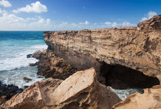 West coast of Fuerteventura at La Pared Royalty Free Stock Photo