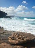 West coast of Fuerteventura at La Pared Stock Photos