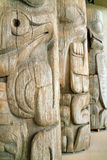 West Coast Indian Totem, UBC, Vancouver BC, Canad stock photography