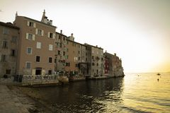 Rovinj, City on the westcoast of Istria, Croatia stock photos