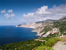 West coast of Kefalonia Island Stock Photography