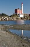 West coast lighthouse. Fisgard Lighthouse National Historic Site Stock Photo