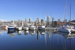 West Coast marina. A large marina in False Creek on Canada's west coast Royalty Free Stock Photos