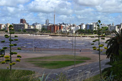 West coast of Montevideo from a hill Royalty Free Stock Photography