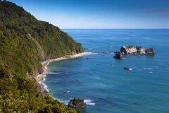 West Coast, New Zealand. Coastal view, West Coast, New Zealand Royalty Free Stock Photos