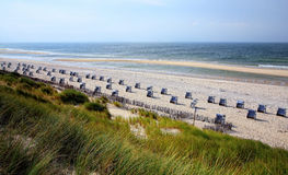 West Coast on the North Sea. Beautiful North Sea in the North of Germany. The island of Sylt royalty free stock images