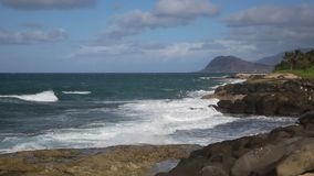 West coast of Oahu stock video footage