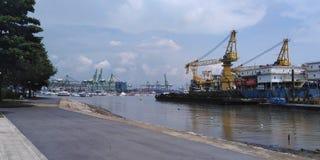 West Coast park shipyard in Singapore stock photos