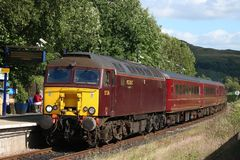 WCRC class 57 arriving Windermere station Stock Images