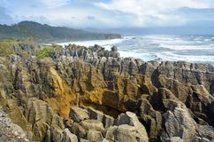 West Coast`s Main Tourist Attraction - The Spectacular Punakaiki Royalty Free Stock Photography
