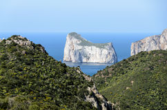 West coast of Sardinia. Nebida is a mining village which lies along the western coast of Sardinia Royalty Free Stock Images