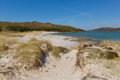 West coast Scotland UK at Morar beautiful coastal Scottish tourist destination located south of Mallaig. Morar coast Scotland UK beautiful coastal Scottish Stock Photos