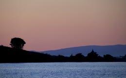 West coast sunset. Sunset on the British Columbia west coast Stock Photos