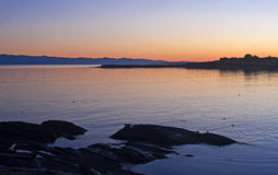 Vancouver Island Sunset Royalty Free Stock Photo
