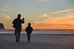 West Coast sunset Stock Photos