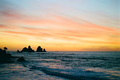 West Coast Sunset, New Zealand Royalty Free Stock Image