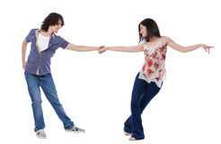 West Coast Swing Dance Royalty Free Stock Photography