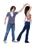 West Coast Swing Dance Stock Images