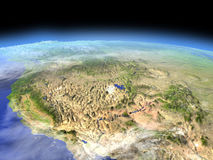 West coast of USA from space Royalty Free Stock Photos