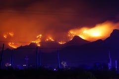 Free West Coast Wildfire Tears Through Mountain Range Royalty Free Stock Photos - 186503868