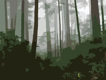 West Coast Woods vector illustration