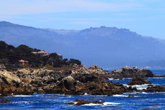 West Coastline. California Pacific west coastline scenery view along highway route one stock photos