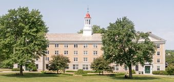 West College dormitory Union College. West College dormitory building, Union College Schenectady New York, first year students on three co ed floors royalty free stock photo