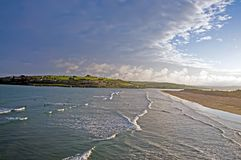 West Cork. Surfers and waves at West Cork beach, Ireland Stock Photo