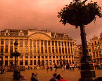 West corner of Grand Place, Brussels, Belgium. Stock Image