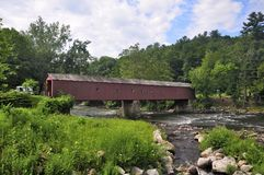 Free West Cornwall Connecticut Covered Bridge Stock Images - 107388374