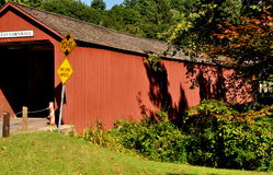 West Cornwall, CT: 1684 Cornwall Covered Bridge Royalty Free Stock Photo