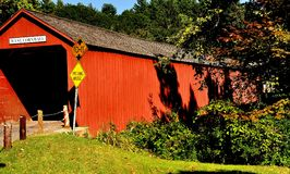 West Cornwall, CT: 1864 Covered Bridge royalty free stock images