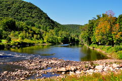 West Cornwall, CT: Housatonic River View Stock Photography