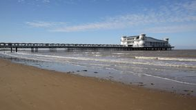 The West Country holiday resort of Weston-super-Mare last weekend of summer holidays stock footage